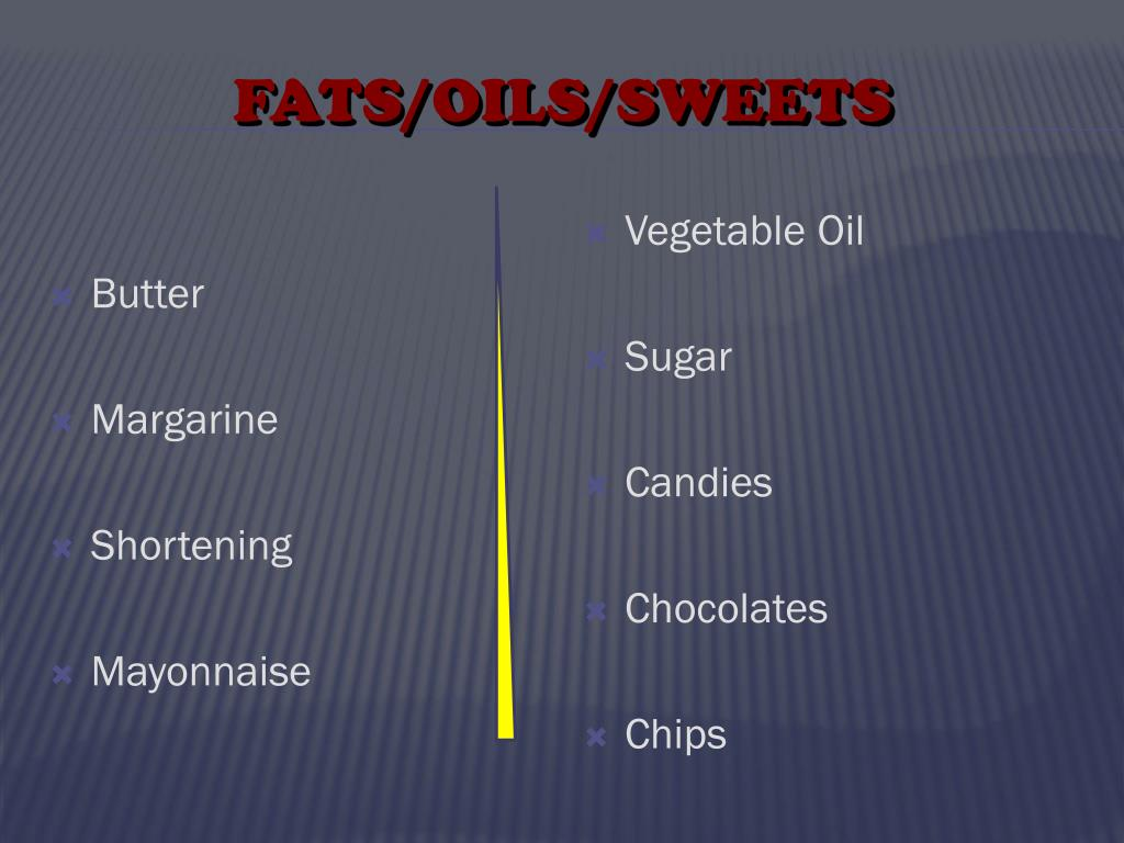 FATS/OILS/SWEETS