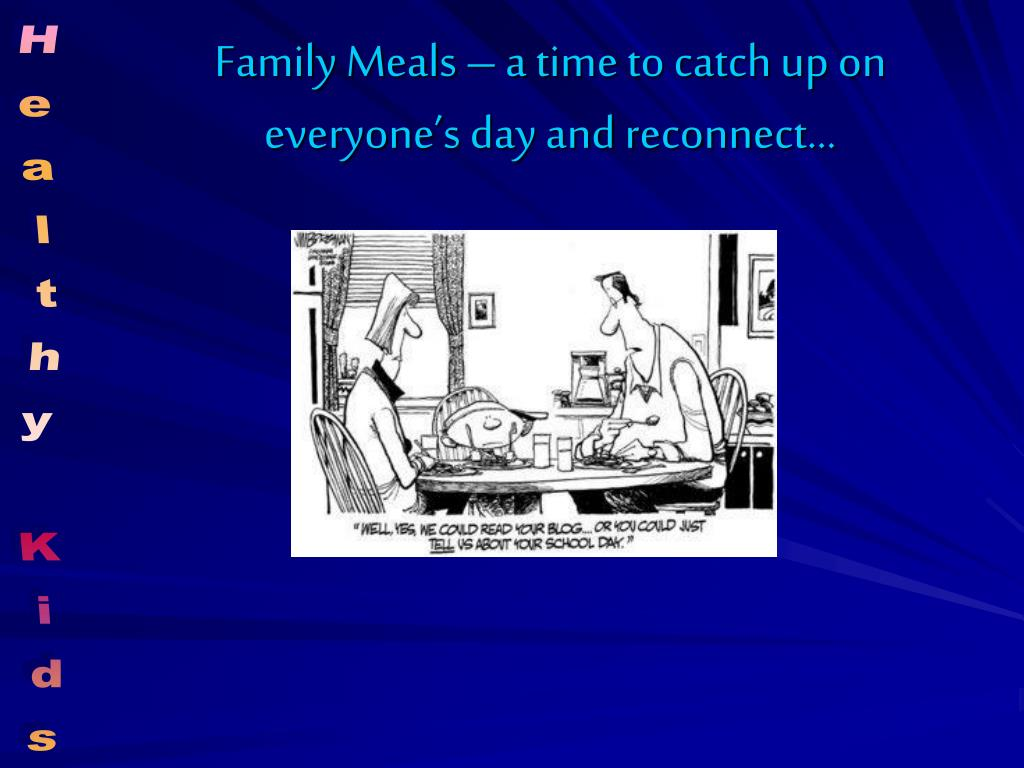 Family Meals – a time to catch up on everyone's day and reconnect…