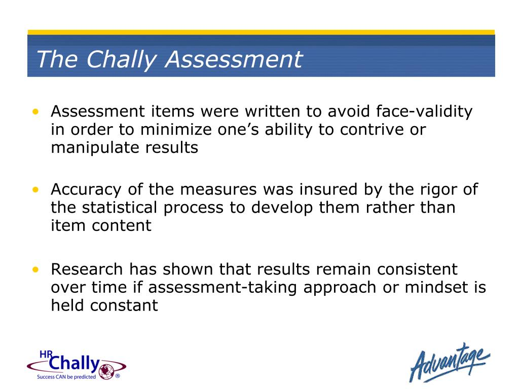 The Chally Assessment