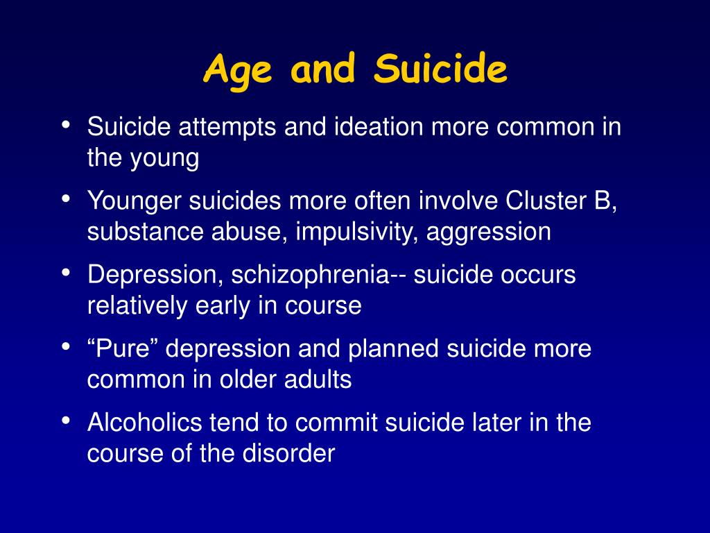 Age and Suicide