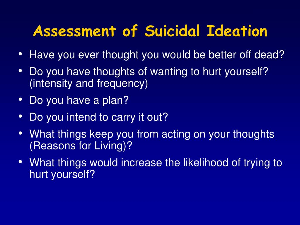 Assessment of Suicidal Ideation