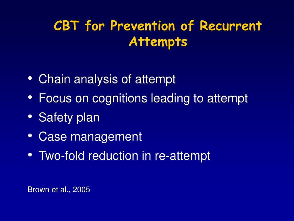 CBT for Prevention of Recurrent Attempts