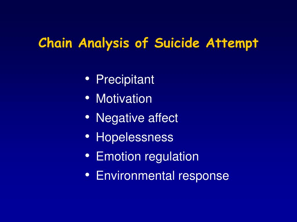 Chain Analysis of Suicide Attempt