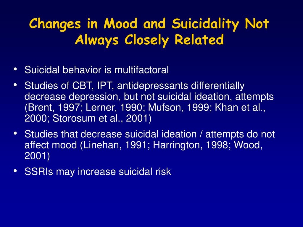 Changes in Mood and Suicidality Not
