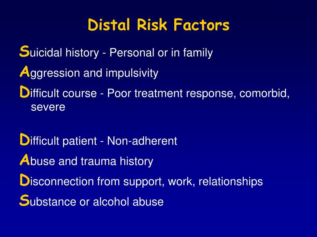 Distal Risk Factors