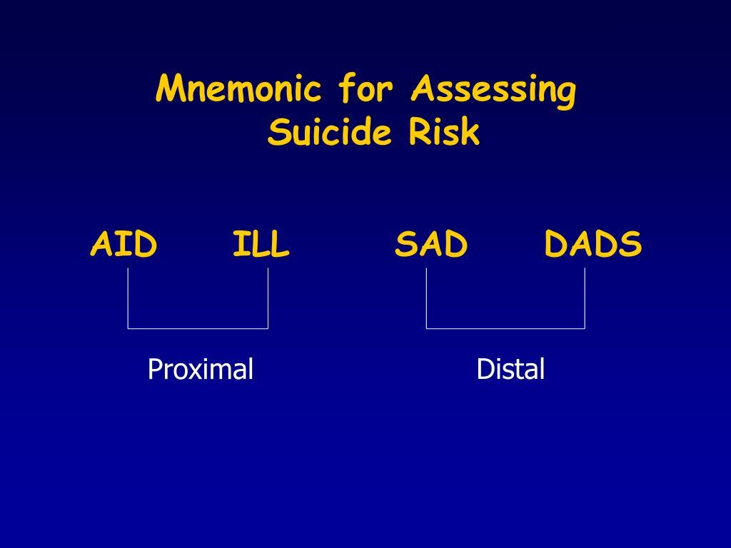 Mnemonic for Assessing