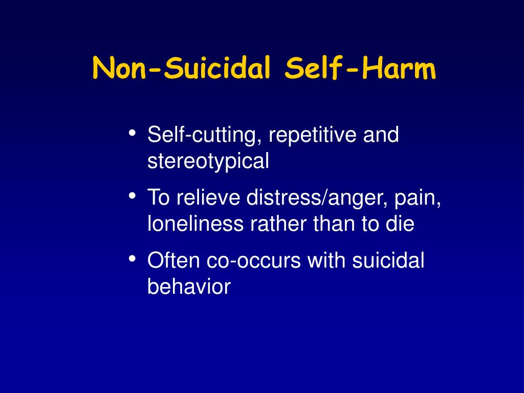 Non-Suicidal Self-Harm