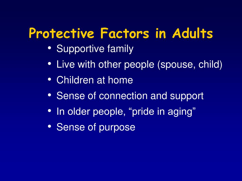 Protective Factors in Adults