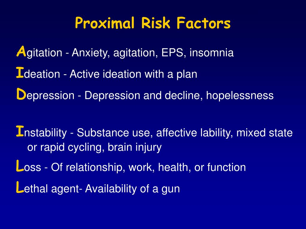 Proximal Risk Factors