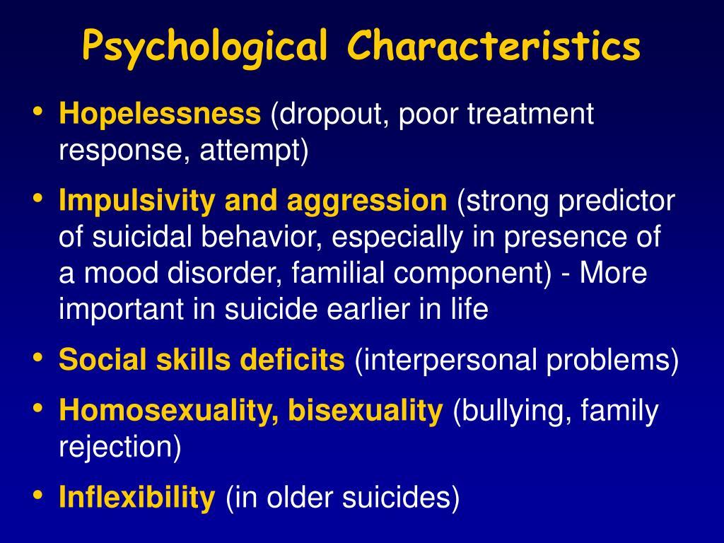 Psychological Characteristics