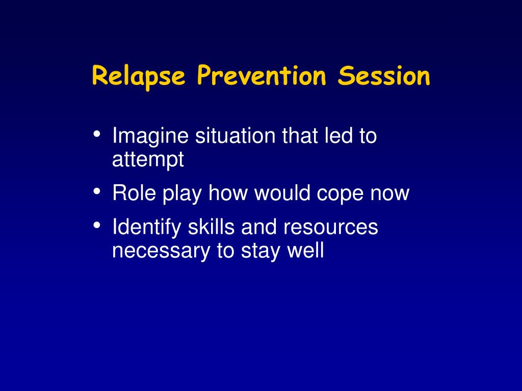 Relapse Prevention Session