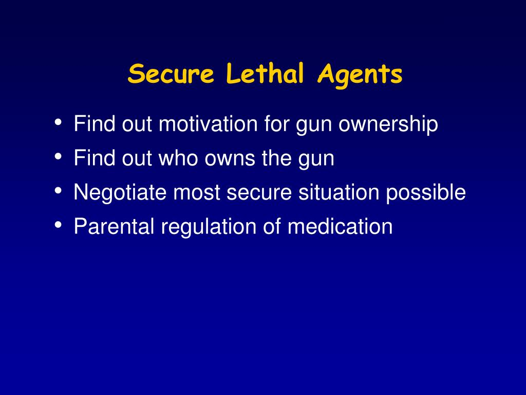 Secure Lethal Agents