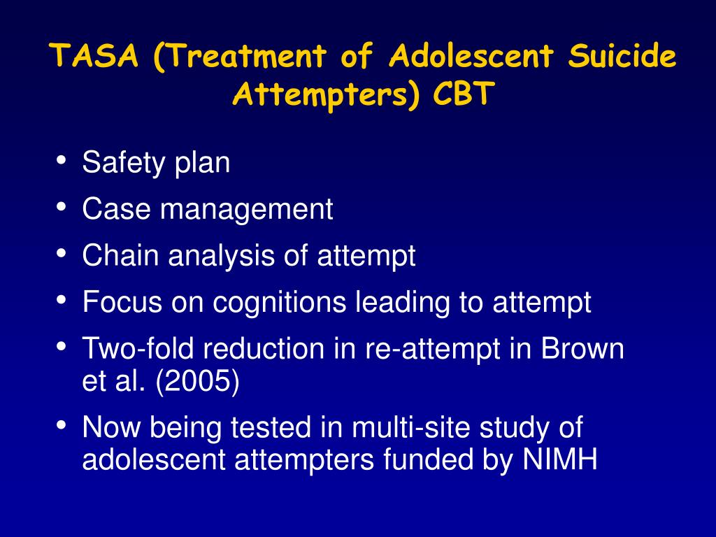 TASA (Treatment of Adolescent Suicide Attempters) CBT