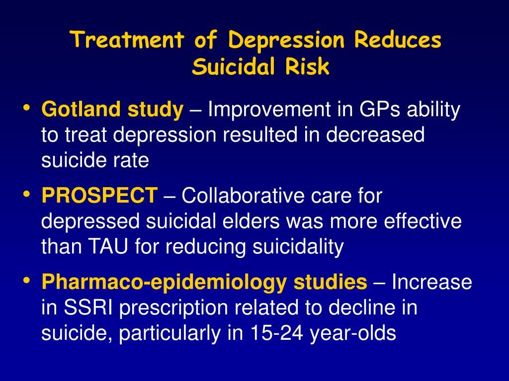 Treatment of Depression Reduces