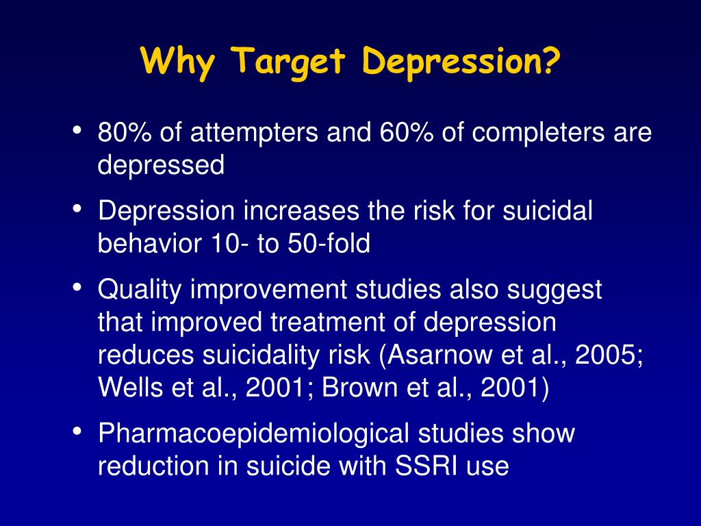 Why Target Depression?