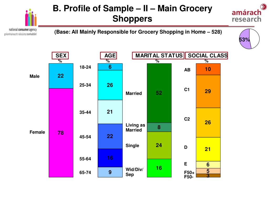 B. Profile of Sample – II – Main Grocery Shoppers