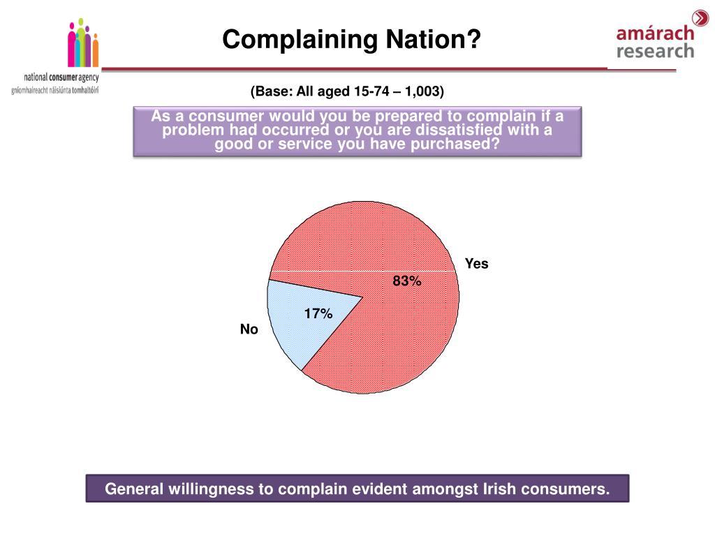 Complaining Nation?