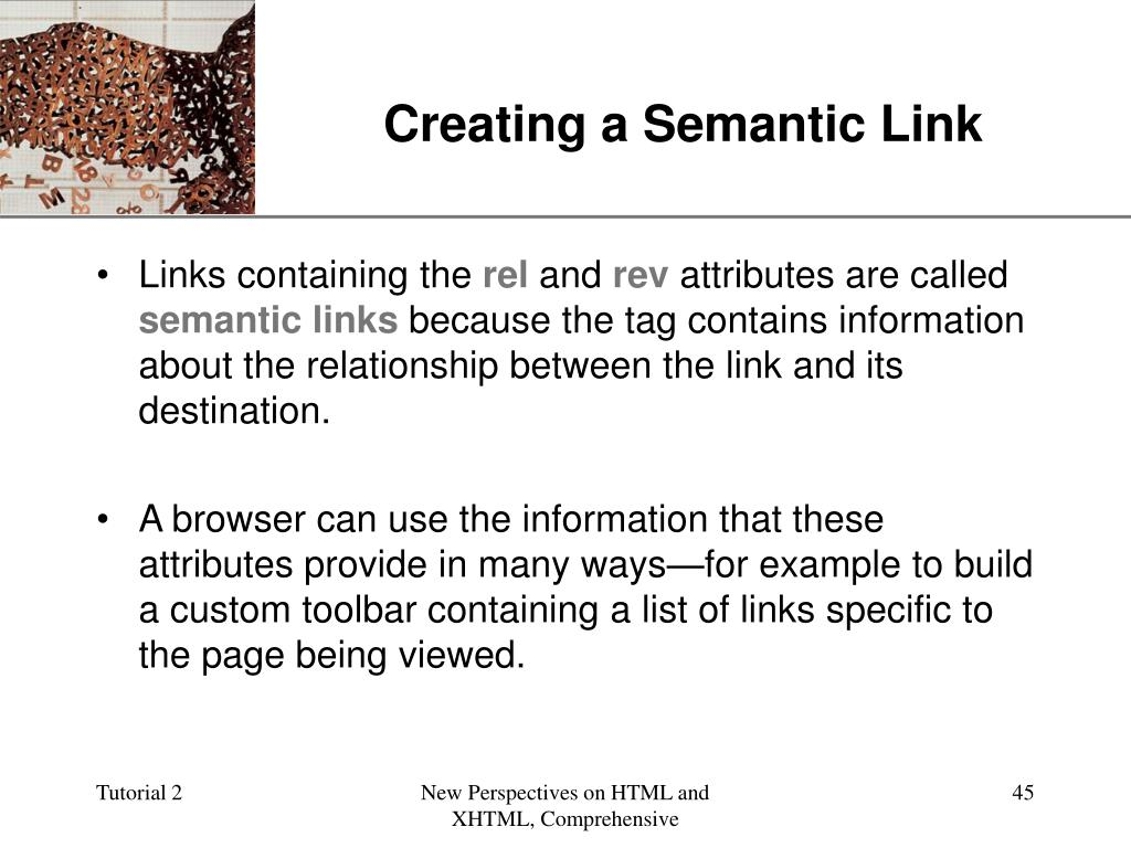 Creating a Semantic Link