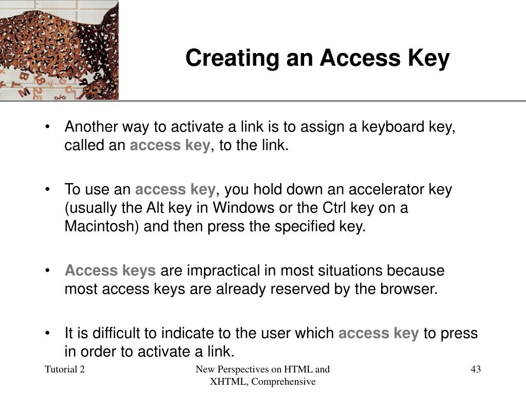 Creating an Access Key