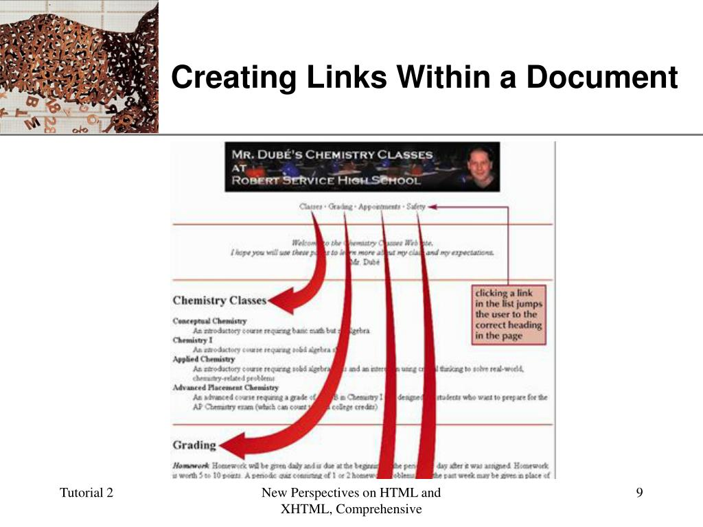Creating Links Within a Document