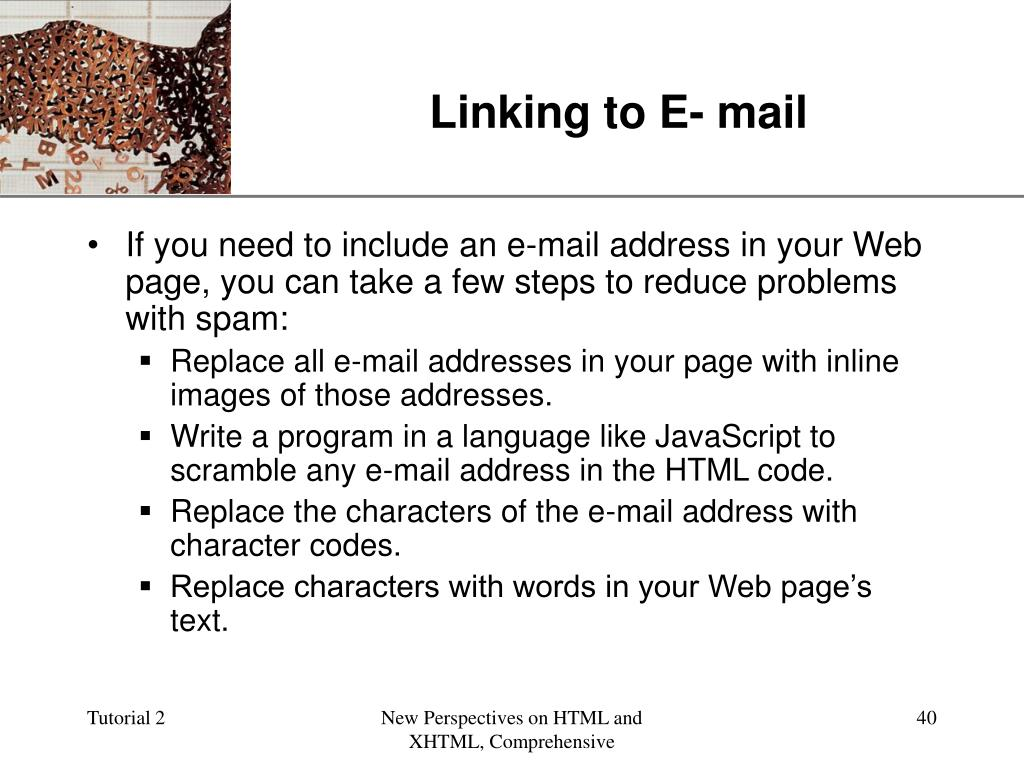 Linking to E- mail