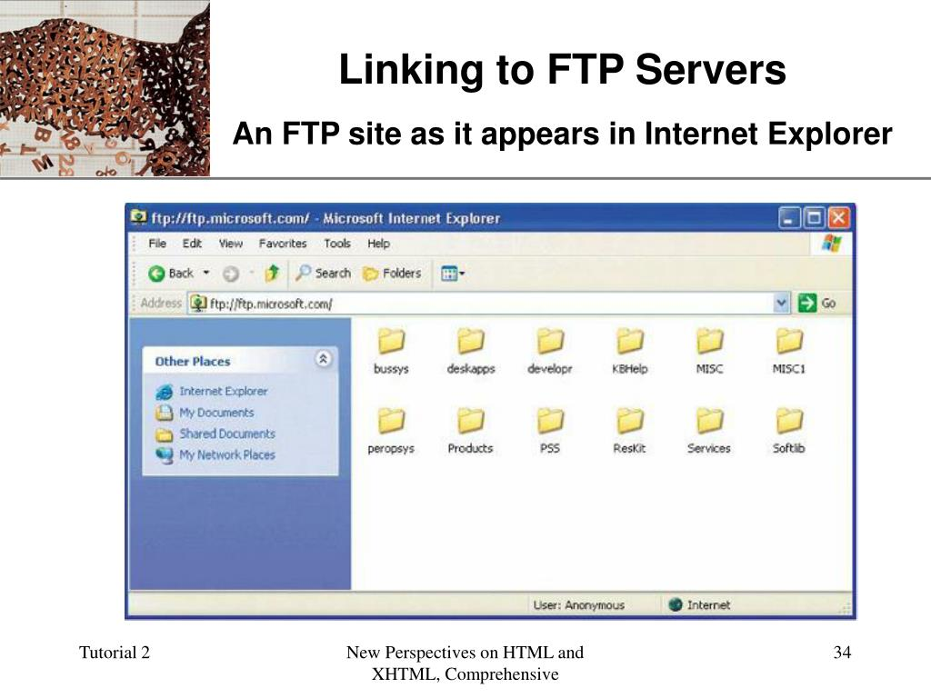 Linking to FTP Servers