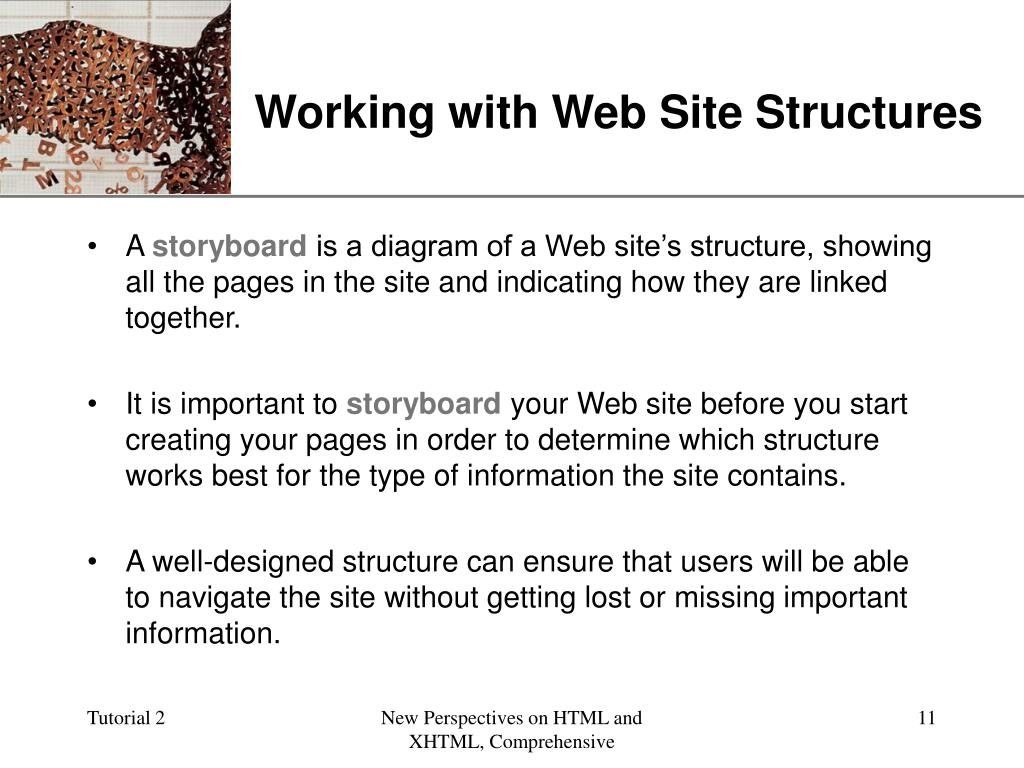 Working with Web Site Structures