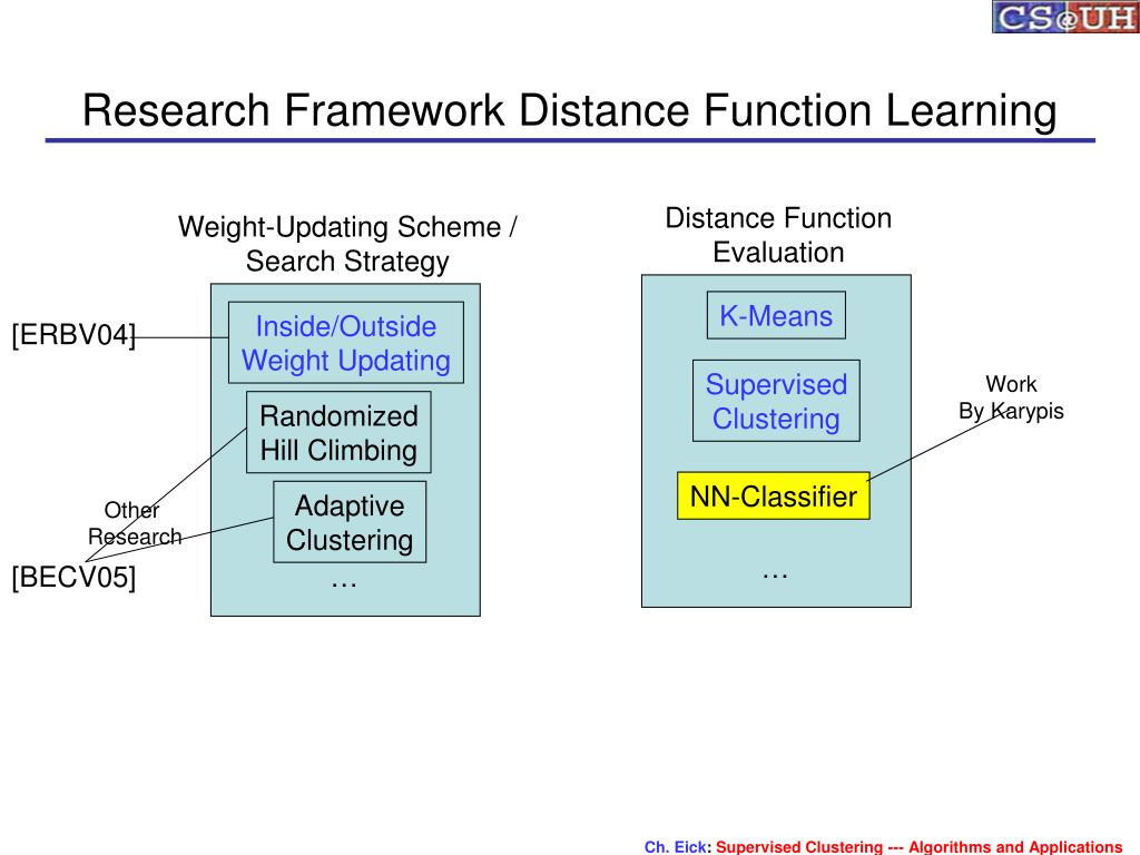 Research Framework Distance Function Learning