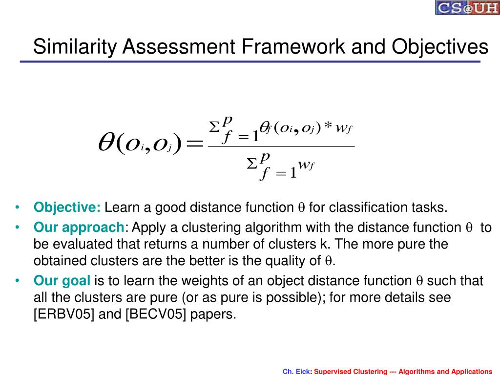Similarity Assessment Framework and Objectives