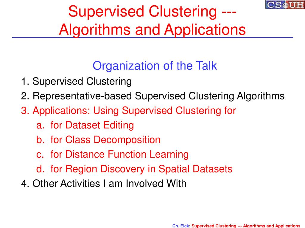Supervised Clustering ---