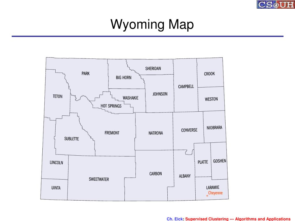Wyoming Map