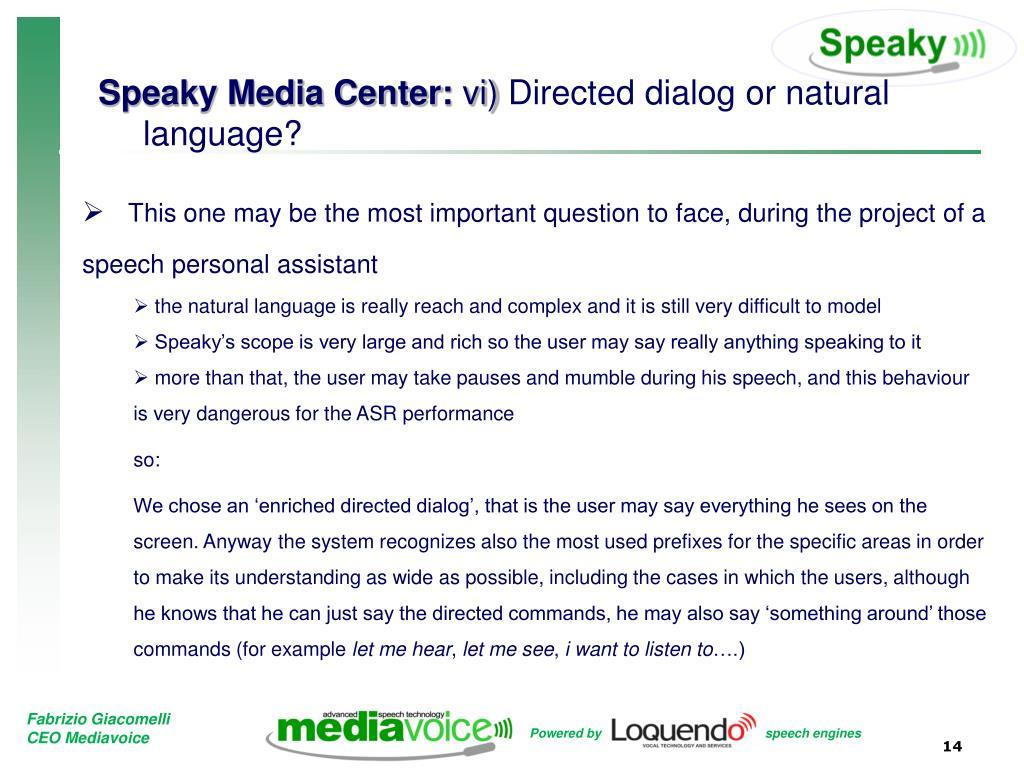 Speaky Media Center: