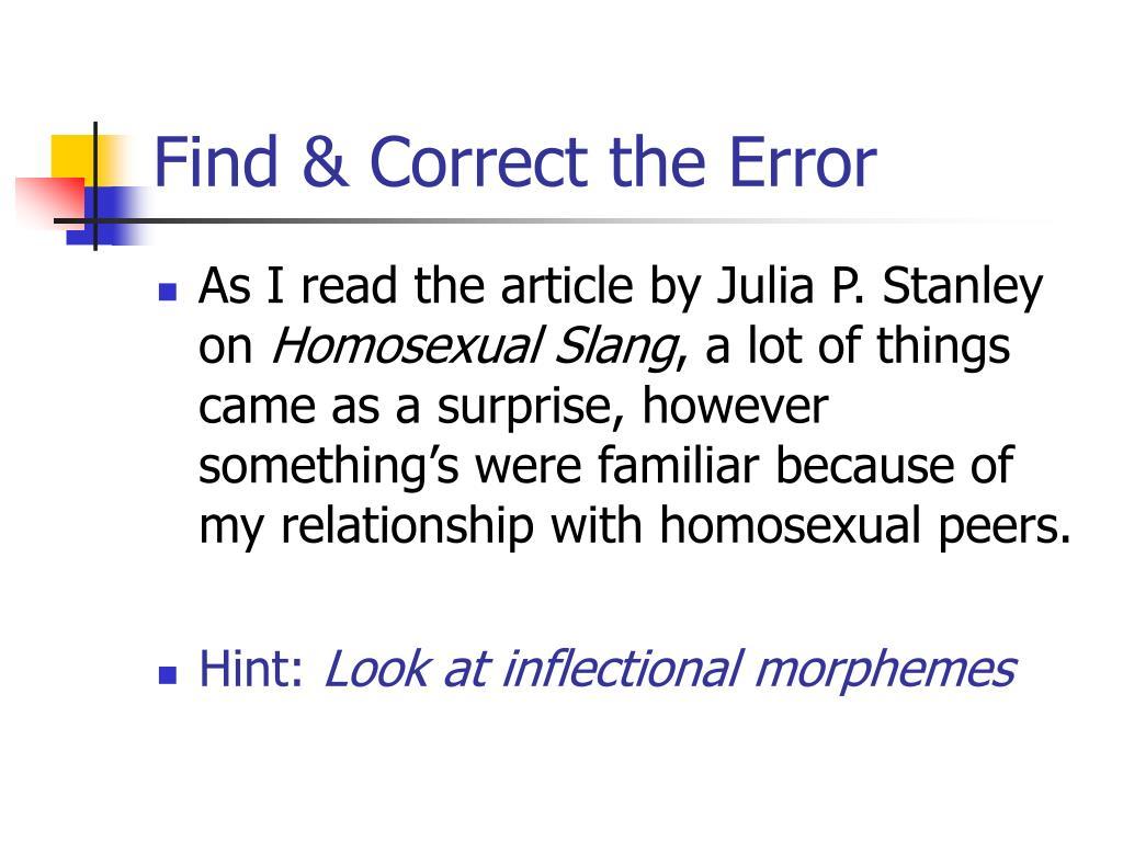 Find & Correct the Error