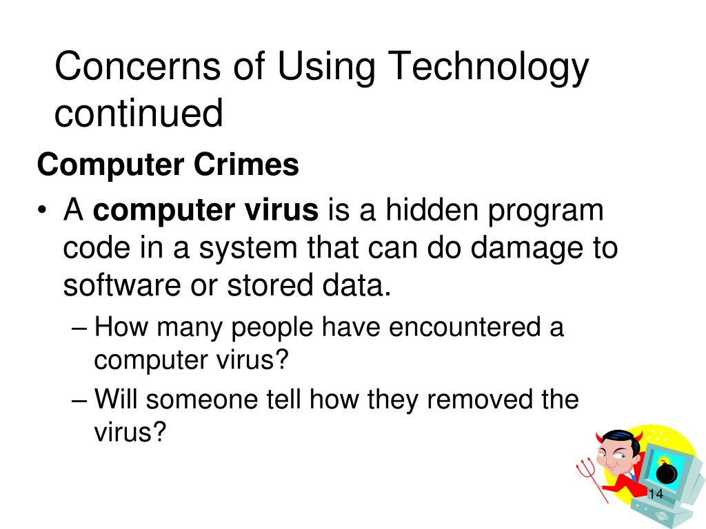 Concerns of Using Technology continued