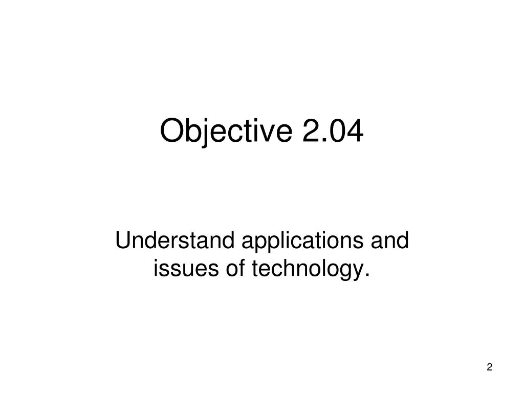 Objective 2.04