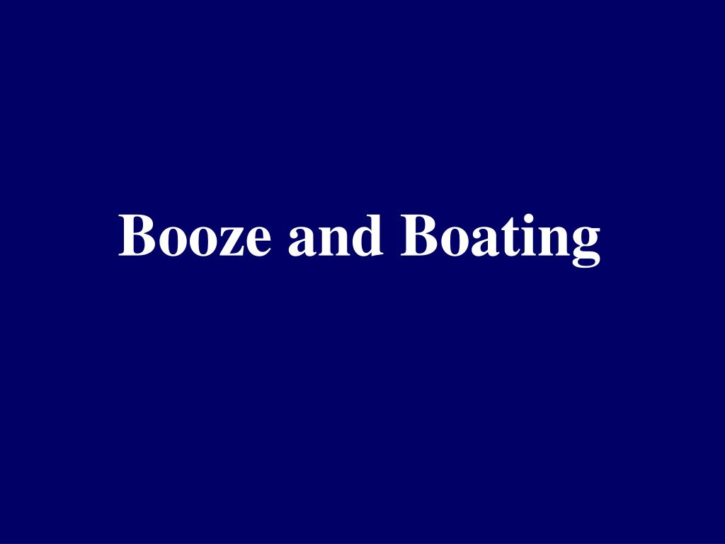 Booze and Boating