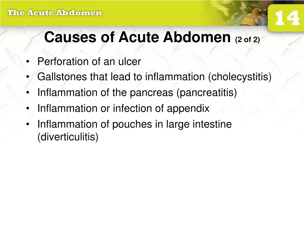 Causes of Acute Abdomen