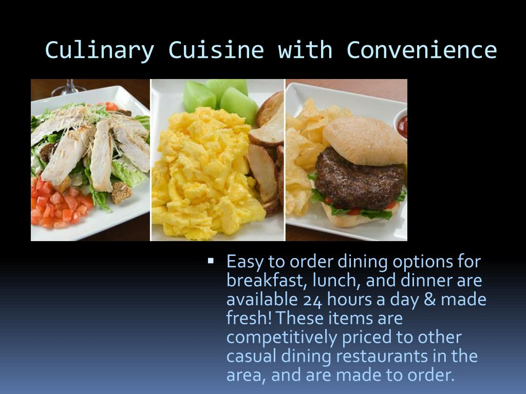 Culinary Cuisine with Convenience