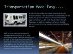 transportation made easy