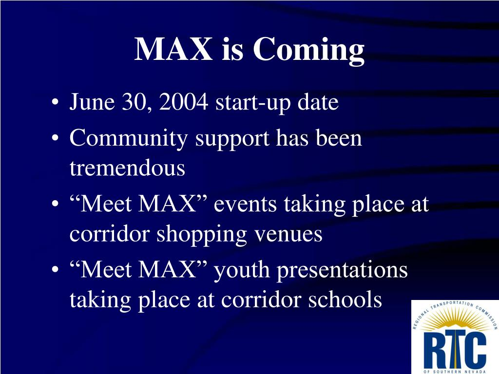 MAX is Coming
