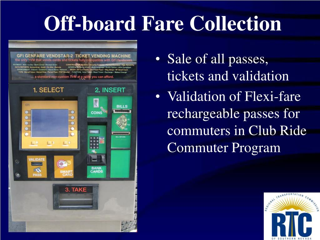 Off-board Fare Collection