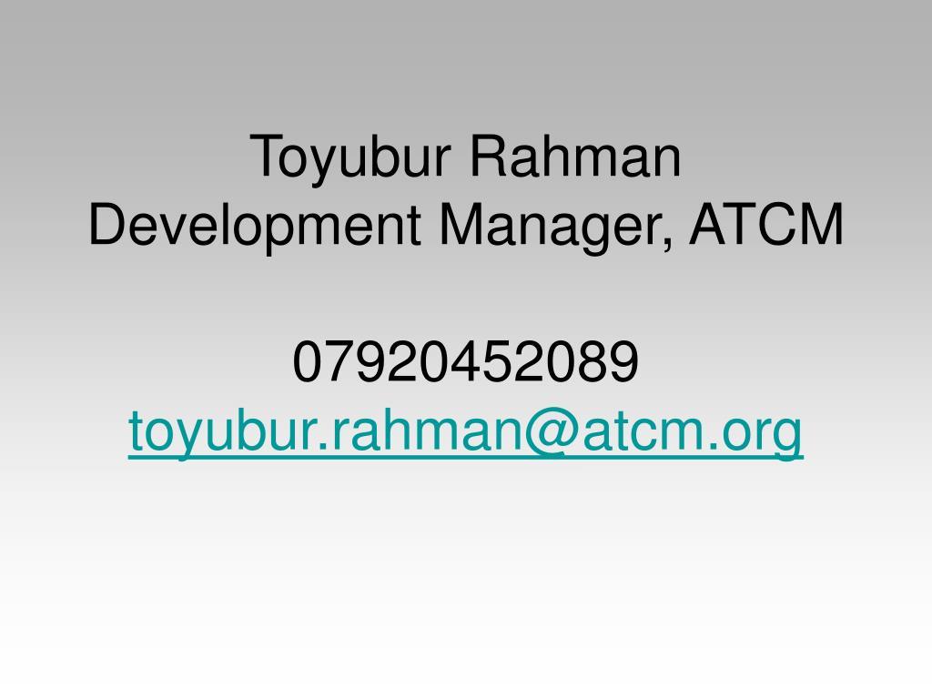 Toyubur Rahman