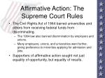 affirmative action the supreme court rules92