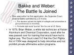 bakke and weber the battle is joined95