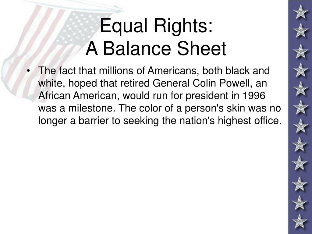 Equal Rights: