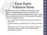 equal rights a balance sheet103