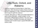 little rock oxford and alabama