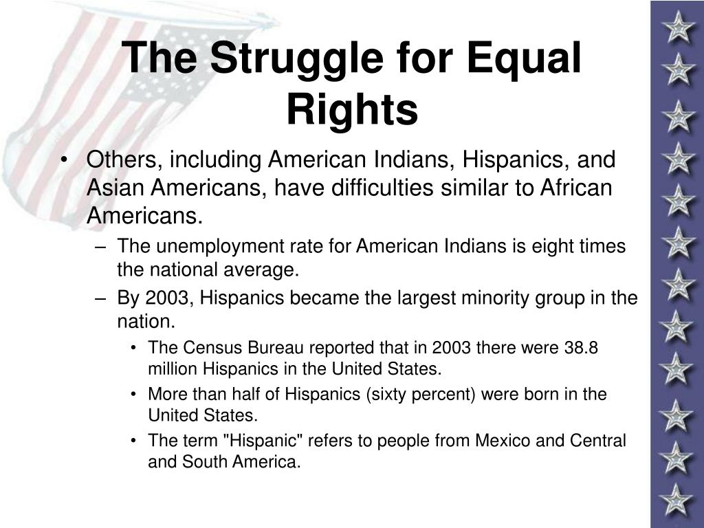 The Struggle for Equal Rights