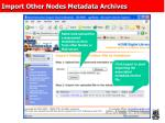 import other nodes metadata archives
