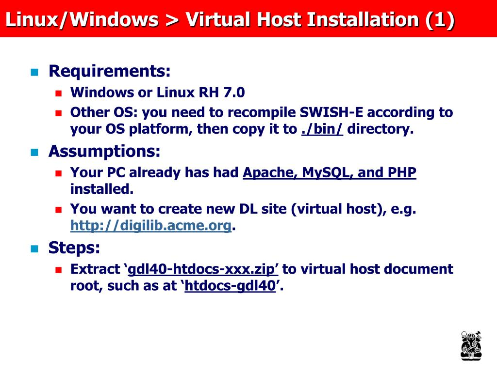 Linux/Windows > Virtual Host Installation (1)